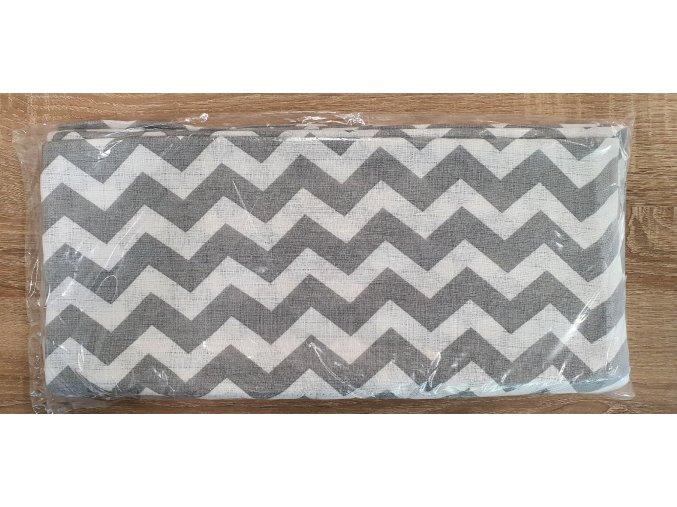 Bavlněná plenka 70x80cm, bílá vroubky