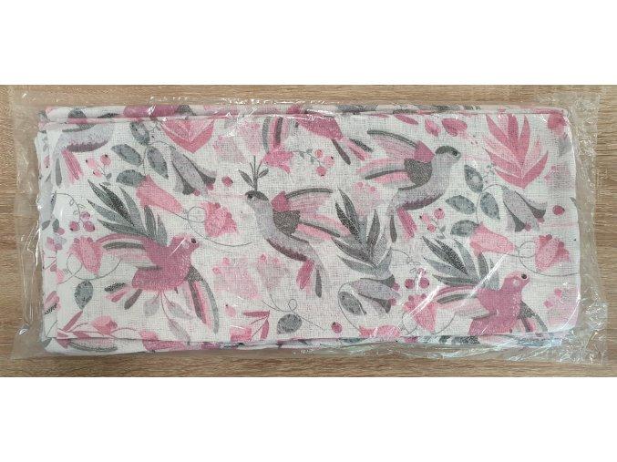 Bavlněná plenka 70x80cm, bílá kolibříci