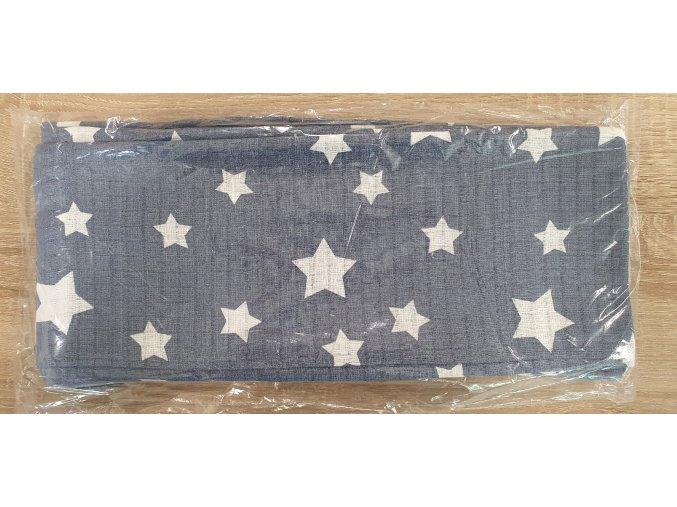 Bavlněná plenka 70x80cm, šedá hvězdičky