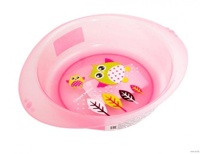 CANPOL BABIES Plastová miska SOVA - Růžová