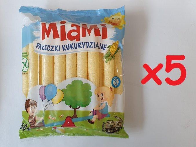 Kukuřičné křupky Miami 5x60g