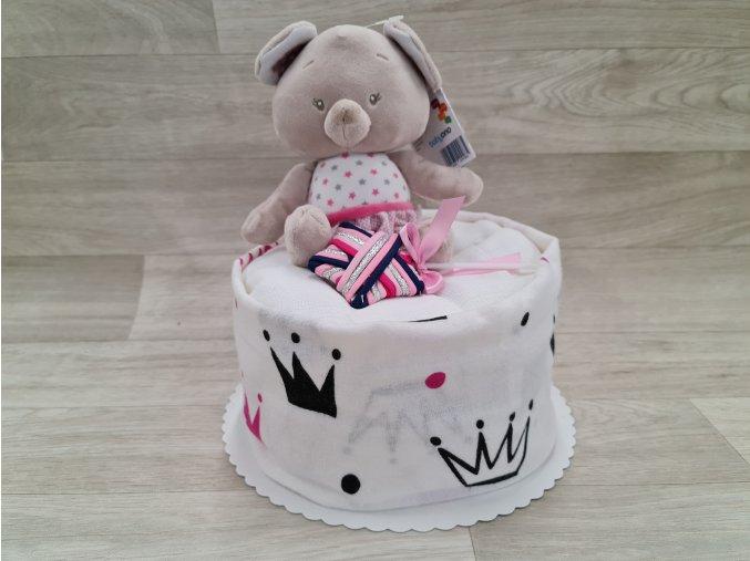 Plenkový dort 4child Nr.28 medvídek růžový