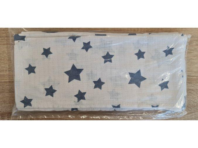 Bavlněná plenka 70x80cm, bílá hvězdičky V