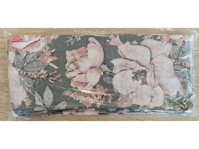 Bavlněná plenka 70x80cm, šedá růžičky