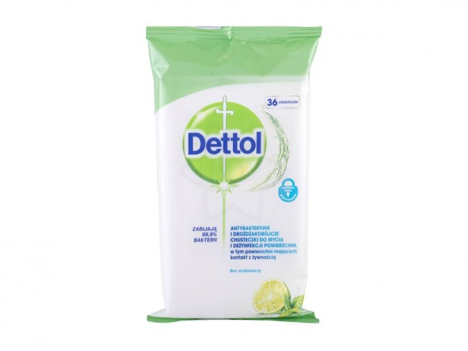 Dettol Antibacterial Cleansing Surface Wipes Lime & Mint 36ks