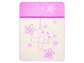 Kolekcja Teddy kocyk pink229