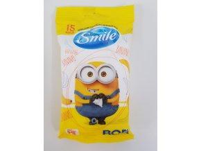 Vlhčené ubrousky Smile Mimoni 15ks