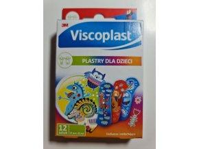 Dětská náplast Viscoplast 3M s obrázky 12ks