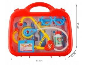 Dětský doktorský kufr červený