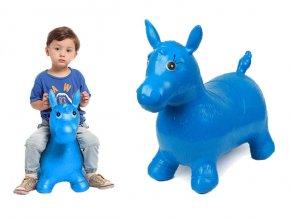 Verk Skákací nafukovací koník 60x50cm modrý