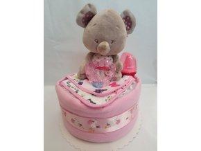 Plenkový dort 4child Nr.4 růžový