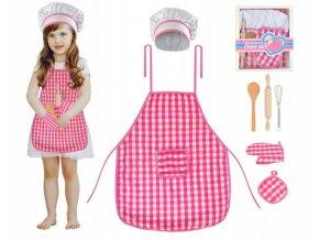 Dětská sada kuchyňská zástěra, čepice a rukavice