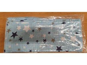 Bavlněná plenka 70x80cm, modrá hvězdičky