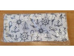 Bavlněná plenka 70x80cm, bílá námořníci