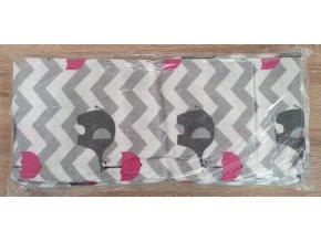 Flanelová plenka 70x80cm, šedá sloni