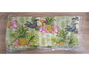 Bavlněná plenka 70x80cm, bílá ananas