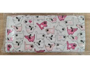 Flanelová plenka 70x80cm, bílá pejsek a kočička