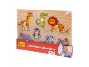 Smily Play dřevěná vkládačka-zoo