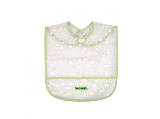 Akuku dětský bryndák s kapsičkou-bublinky (Barva Zelená)