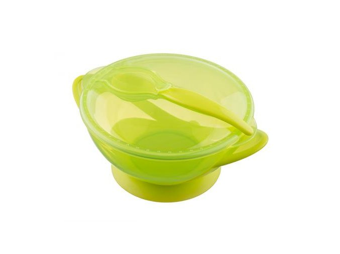 akuku miska s přísavkou žlutá