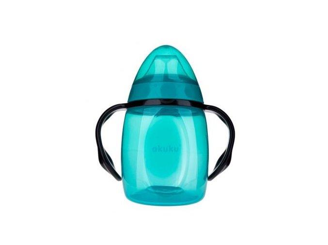 poyilnik neprolivajka z m yakim nosikom i ruchkami biryuzovij 280 ml akuku a0366