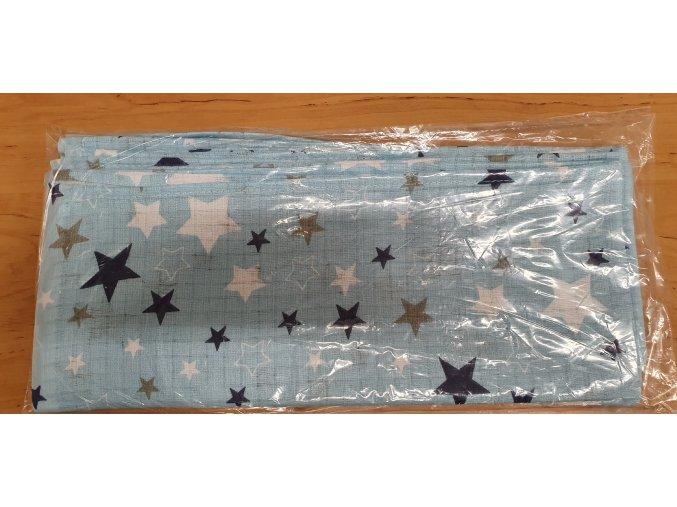 4100 bavlnena plenka 70x80cm modra hvezdicky