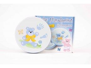 baby handprint front tin