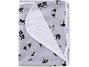 Baby Matex Bamboo panda šedá