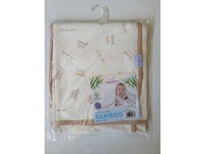 2213 1 detska deka 75x100 cm baby matex bamboo bezova panda