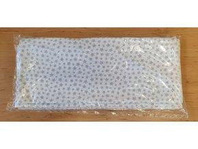 4322 bavlnena plenka 70x80cm bila male hvezdicky