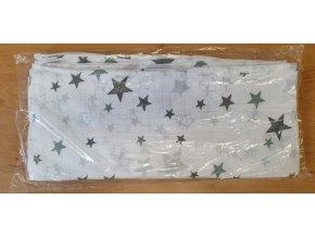 4526 bavlnena plenka 70x80cm bila sede hvezdicky