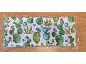 5321 bavlnena plenka 70x80cm bila kaktusy