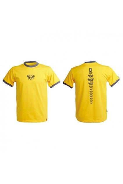 Tričko BACKBONE ARROW dámské žluté
