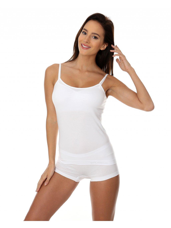 Brubeck dámské tričko na ramínka Comfort Cotton (Barva Bílá, Velikost XL)
