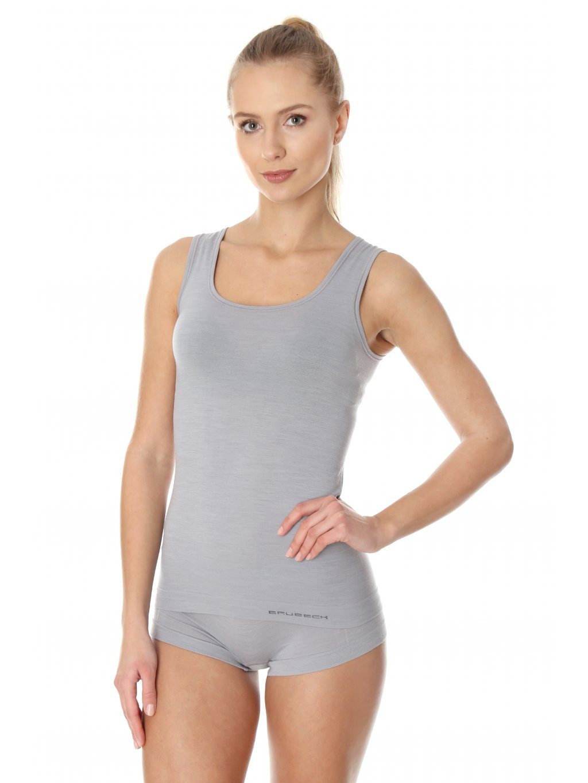 Brubeck dámské tričko bez rukávů Comfort wool (Barva Tělová, Velikost XL)