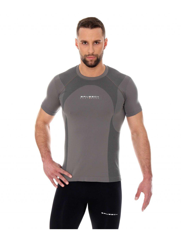 Brubeck pánské tričko s krátkým rukávem DYNAMIC OUTDOOR (Barva Šedá, Velikost XXL)