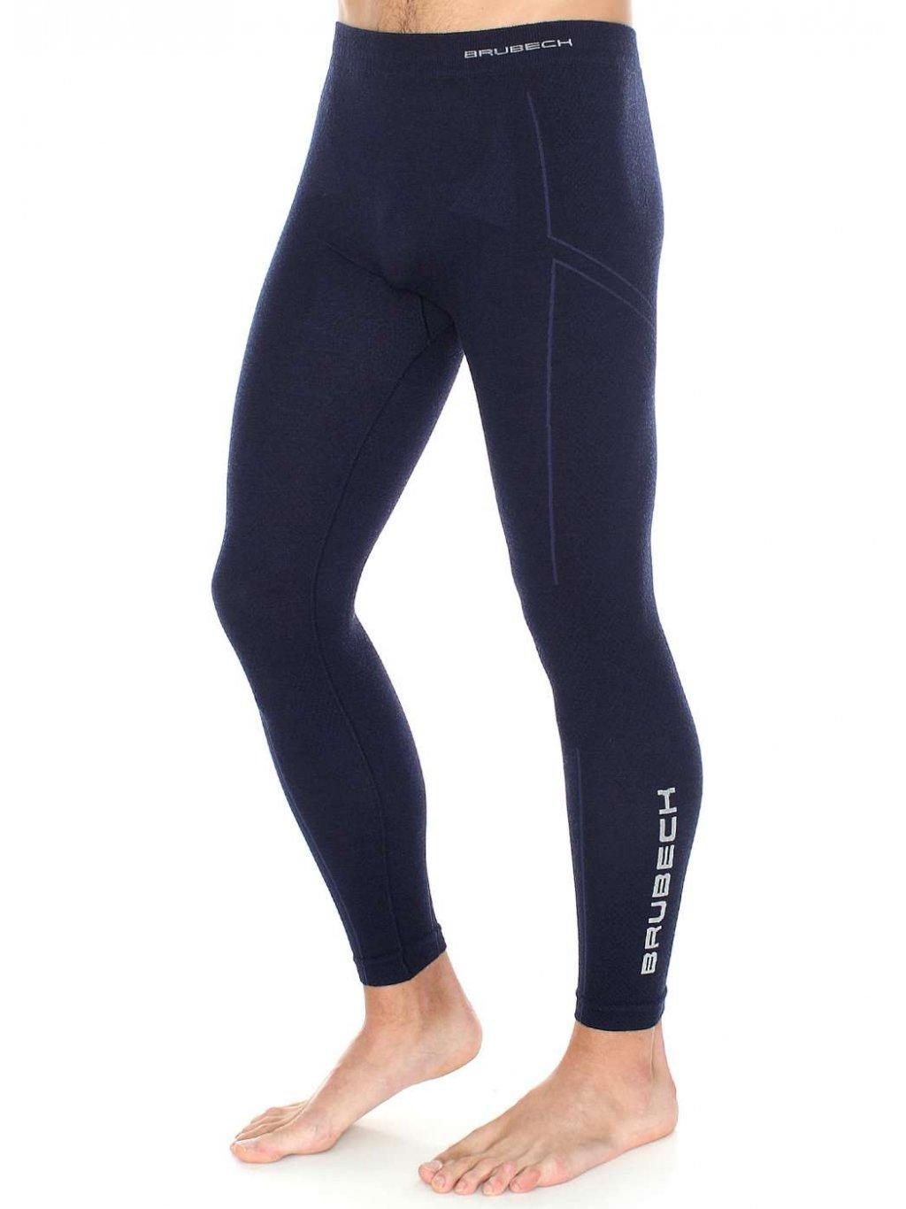 Brubeck pánské spodní kalhoty MERINO WOOL (Barva Tmavě modrá, Velikost XXL)