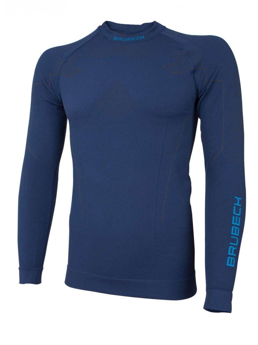Brubeck pánské tričko s dlouhým rukávem Thermo (Barva Tmavě modrá, Velikost XXL)