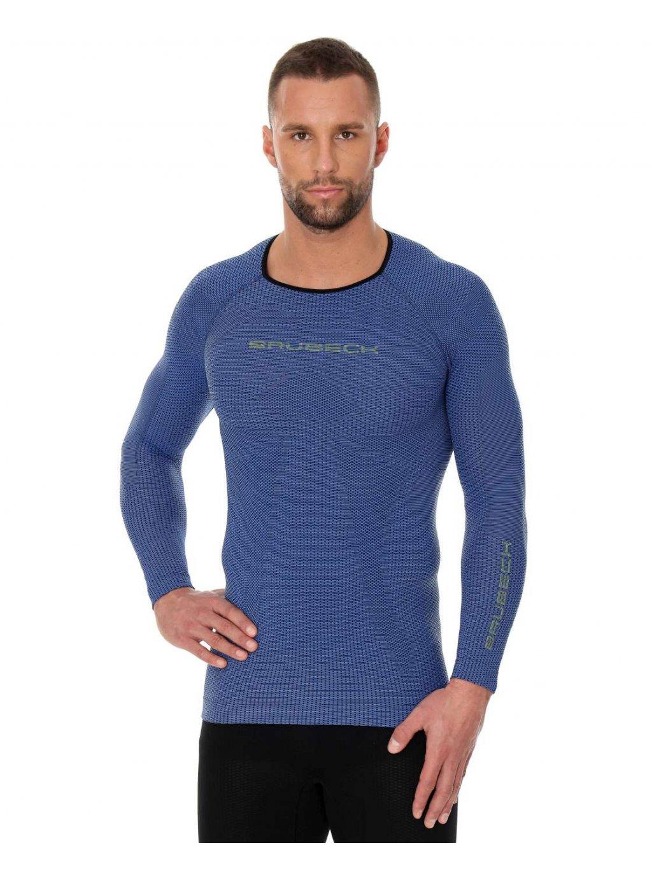 Brubeck pánské tričko dlouhý rukáv 3D Run PRO Athletic (Barva Červená, Velikost XXL)