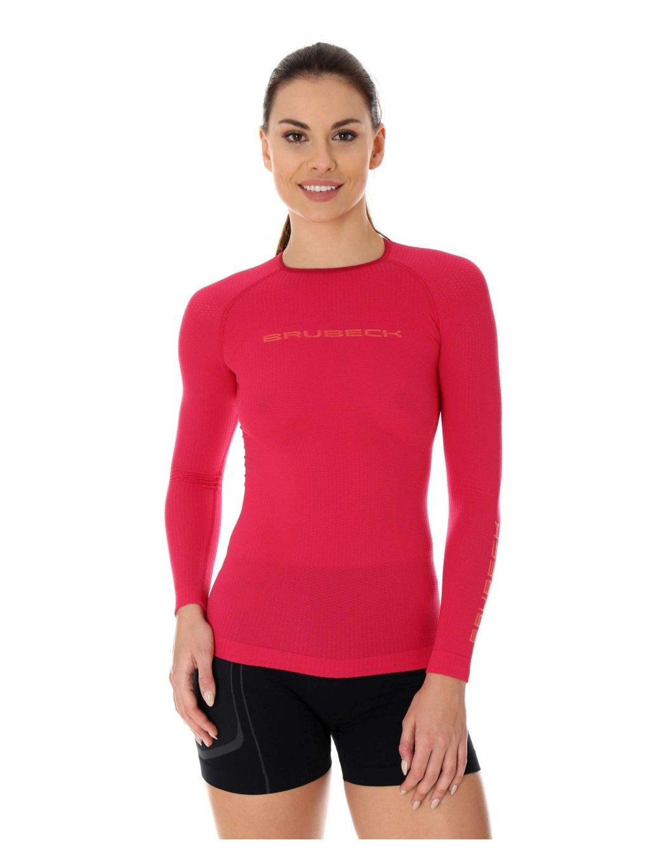 Brubeck dámské tričko dlouhý rukáv 3D Run PRO Athletic (Barva Malinová, Velikost XL)