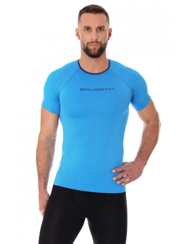Brubeck pánské tričko s krátkým rukávem 3D Bike PRO (Barva Žlutá, Velikost XXL)