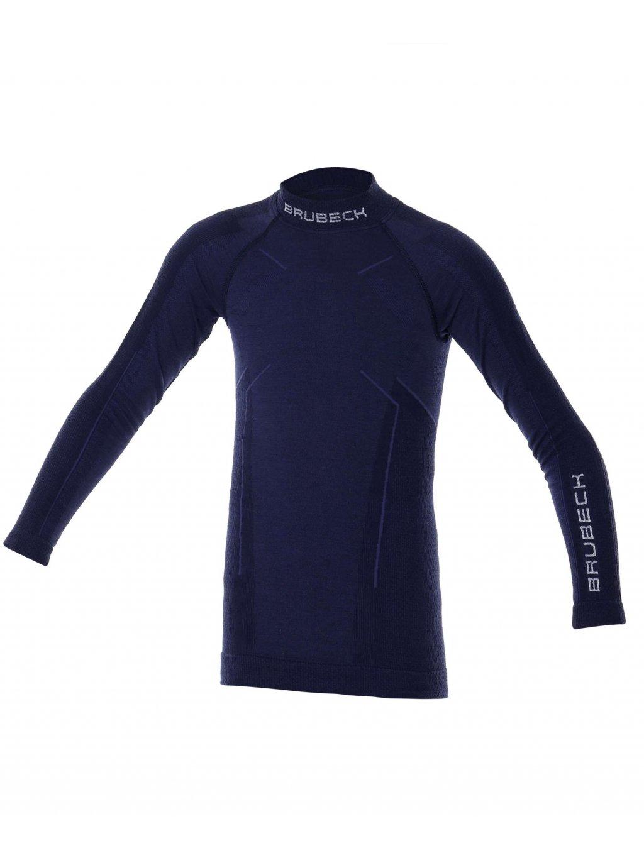 Chlapecké tričko ACTIVE WOOL JUNIOR (Barva Tmavě modrá, Velikost 152/158)