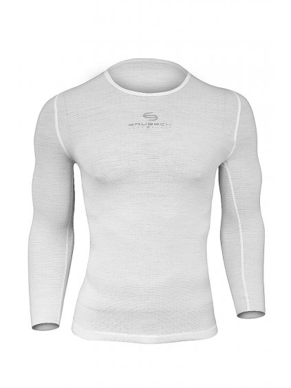 Brubeck UNISEX tričko s dlouhým rukávem Multifunctional (Barva Bílá, Velikost XXL)