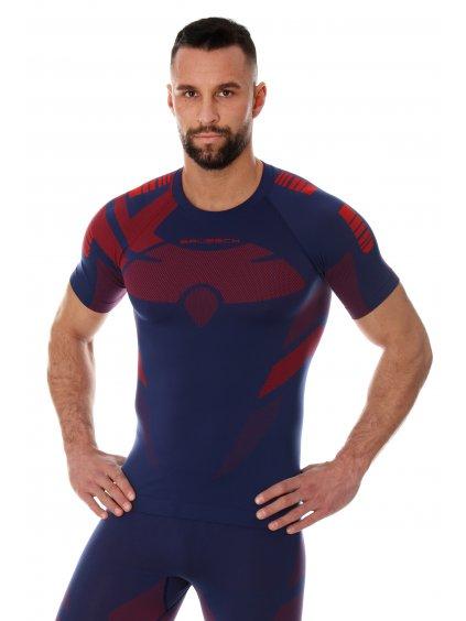 Brubeck pánské tričko s krátkým rukávem Dry (Barva Tmavě modrá, Velikost XXL)