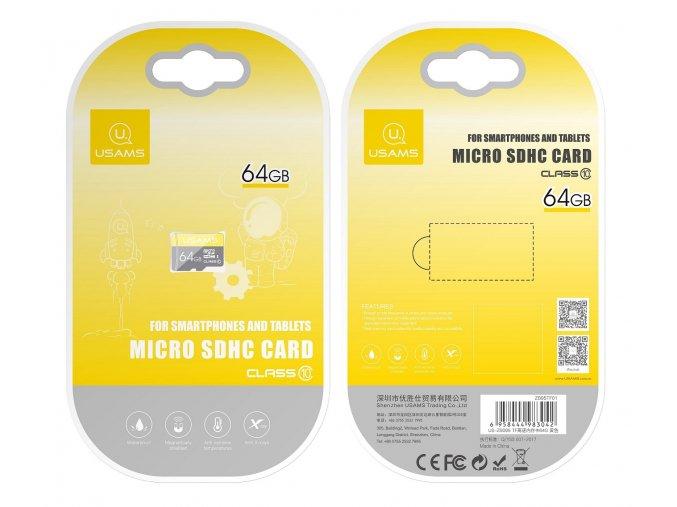 Usams micro SDHC 64GB vysokorýchlostná pamäťová karta