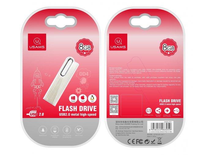 Usams 8GB vysokorýchlostný USB kľúč s hliníkovým telom