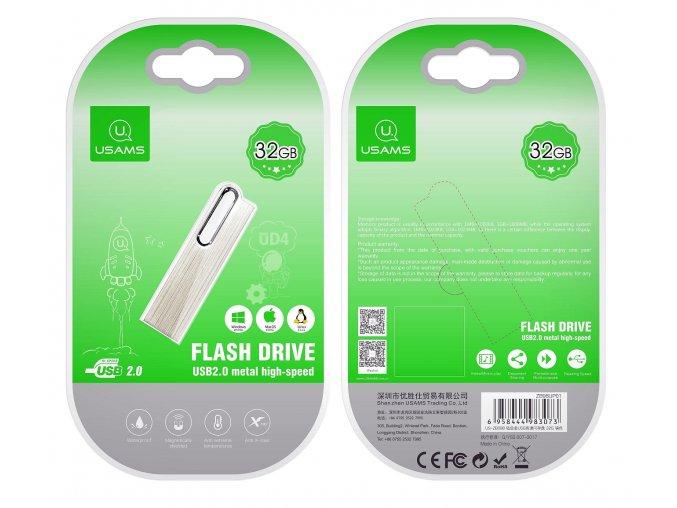 Usams ZB098 32GB vysokorýchlostný USB kľúč s hliníkovým telom