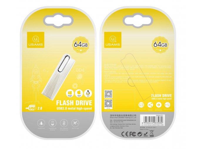 Usams 64GB vysokorýchlostný USB kľúč s hliníkovým telom