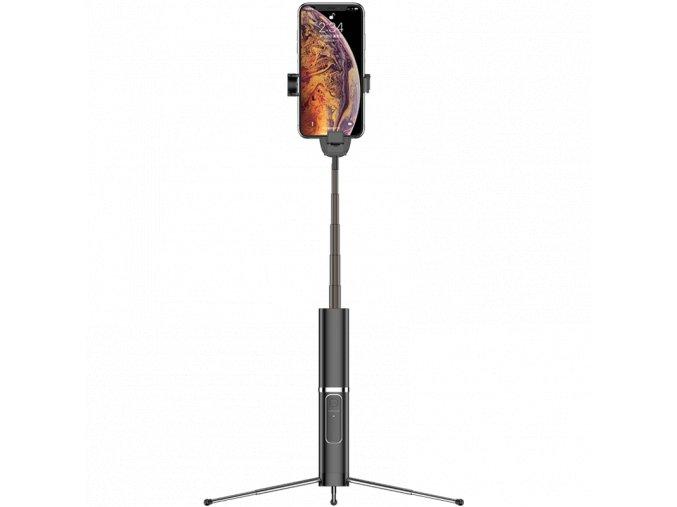 Usams ZB064 Phantom Selfie tyč s odnímateľným bezdrôtovým diaľkovým ovládačom čierna