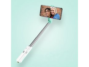 Usams ZB056 M1 Mini Selfie tyč s bezdrôtovým diaľkovým ovládačom ružová